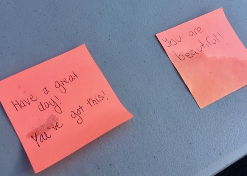 Affirmations on Post-Its