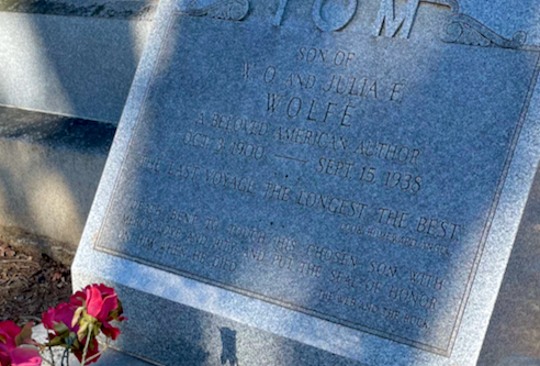 grave of Thomas Wolfe