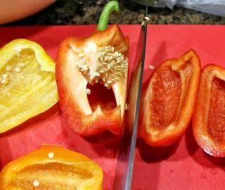 coring bell pepper