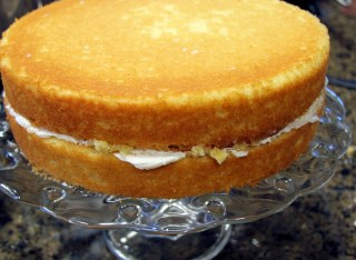 lemon cake layers