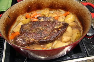 pot roast just out of the oven