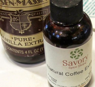 vanilla and coffee extracts