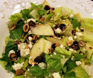 Apple, Hazelnut, and Blue Cheese