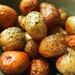 roasted baby potaoes
