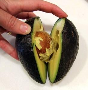 avocado pulled apart