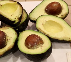 halved avocados