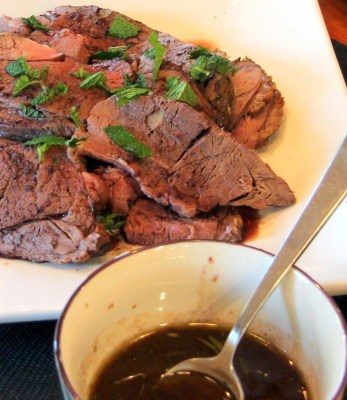 Roasted Leg of Lamb with Rosemary Mint Au Jus
