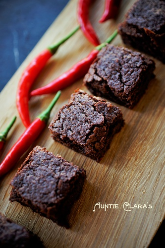 Chili-Chocolate Brownies by Auntie Clara's