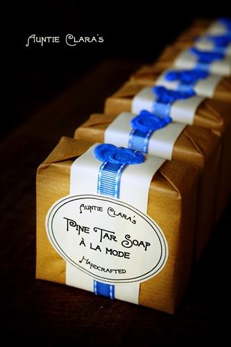Pine Tar Soap à la Mode by Auntie Clara's