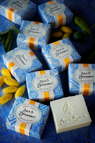 Silk & Bergamot Soap by Auntie Clara's