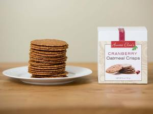 Auntie Elsie's Crisps Cranberry Oatmeal Cookies Product Shot