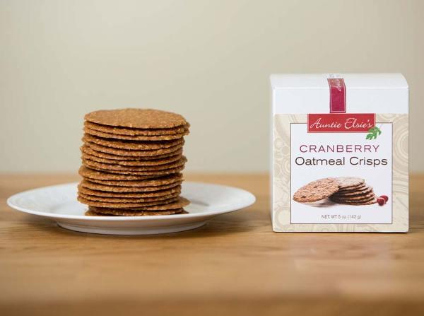 Auntie Elsie's Crisps Cranberry Oatmeal Cookies Product Shot