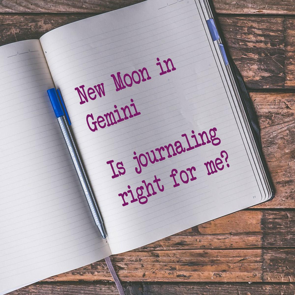 New Moon In Gemini Journaling Arghhhhh Auntie Moon