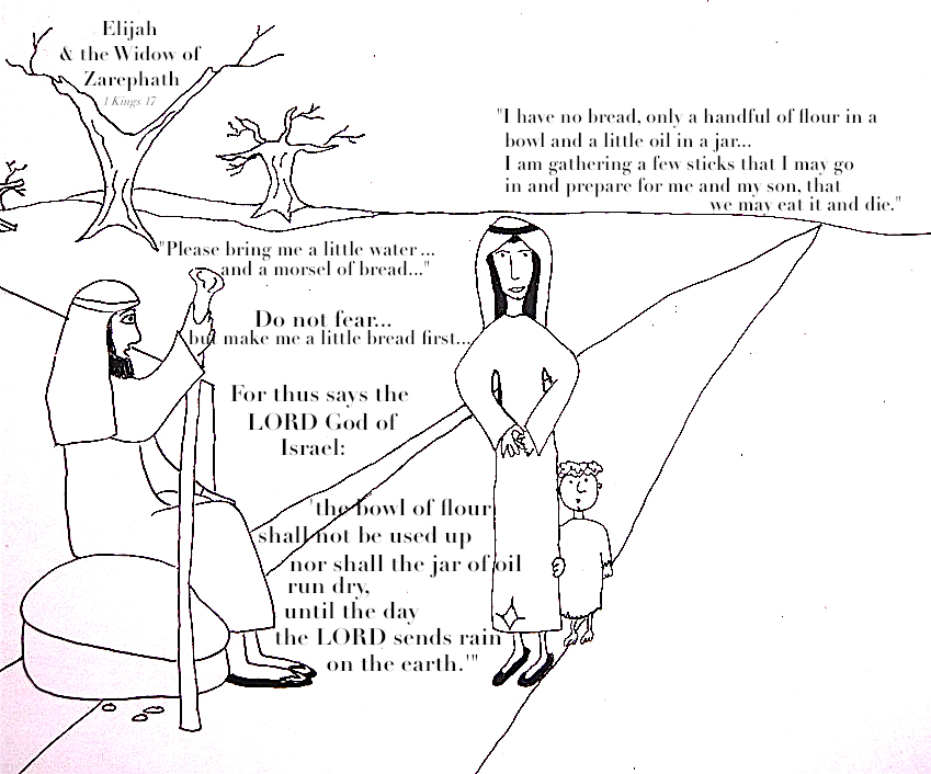 Elijah And The Widow Of Zarephath Coloring Pages