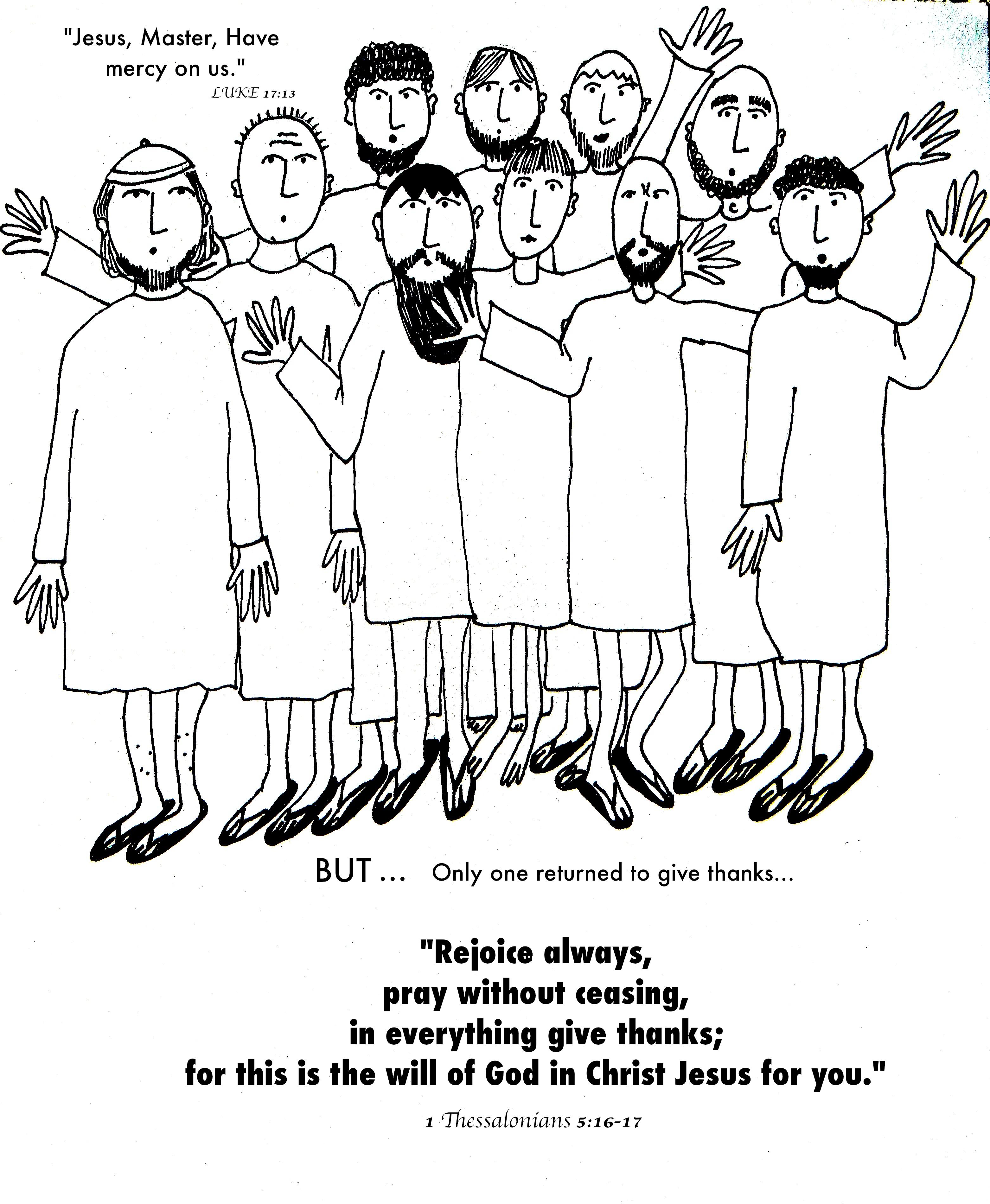 Ten Lepers Worksheet