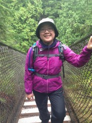 Hello Suspension Bridge. Do I look wet?