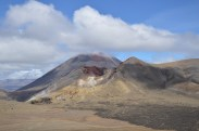 Mt. Ngaurahoe looks beautiful behind the Red Crater!