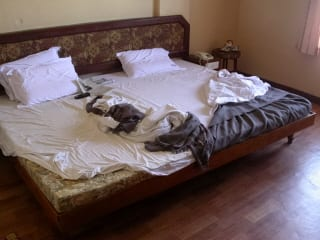 auntie stress unmade bed