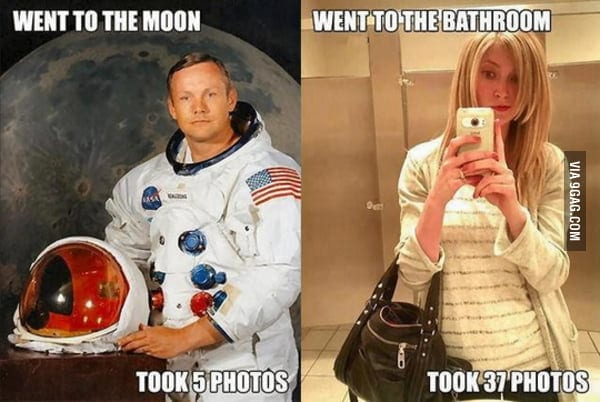 went to the moon meme auntie stress