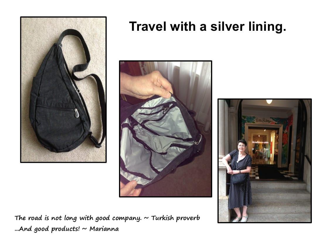 auntie stress travel purse