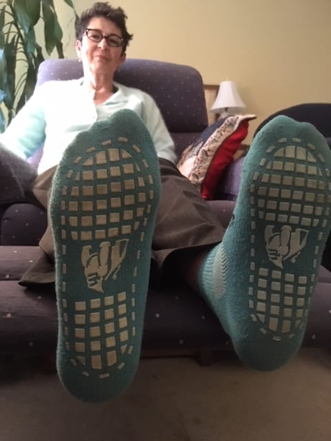 auntie stress socks