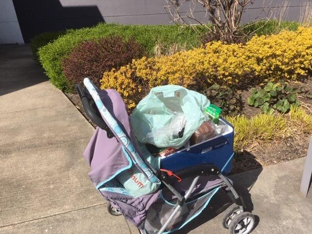 auntie stress grocery cart