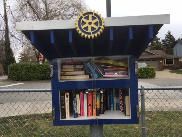 Another Little Free Library, courtesy of the Rotary.