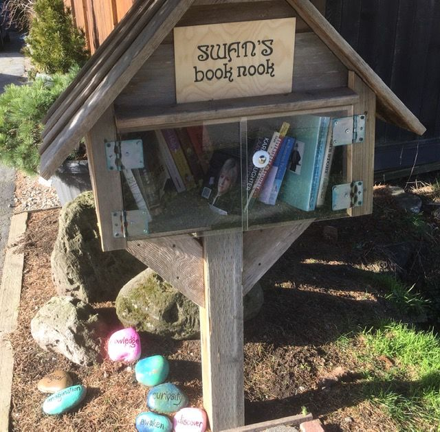 Swan's Book Nook - a Free Little Library.