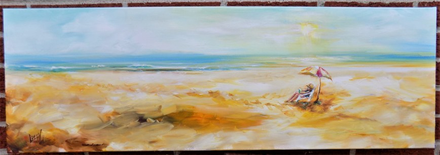 Book by the Sea 2017 Lori Maroviches painting