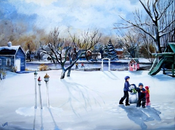 The Murphy's Backyard Snow