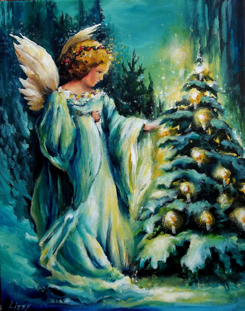 """""""Christmas Eve Angel"""" Sold – Lizzy"""