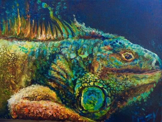 Lizzy Paints a Lizard 11x14x1.5 1. 2019