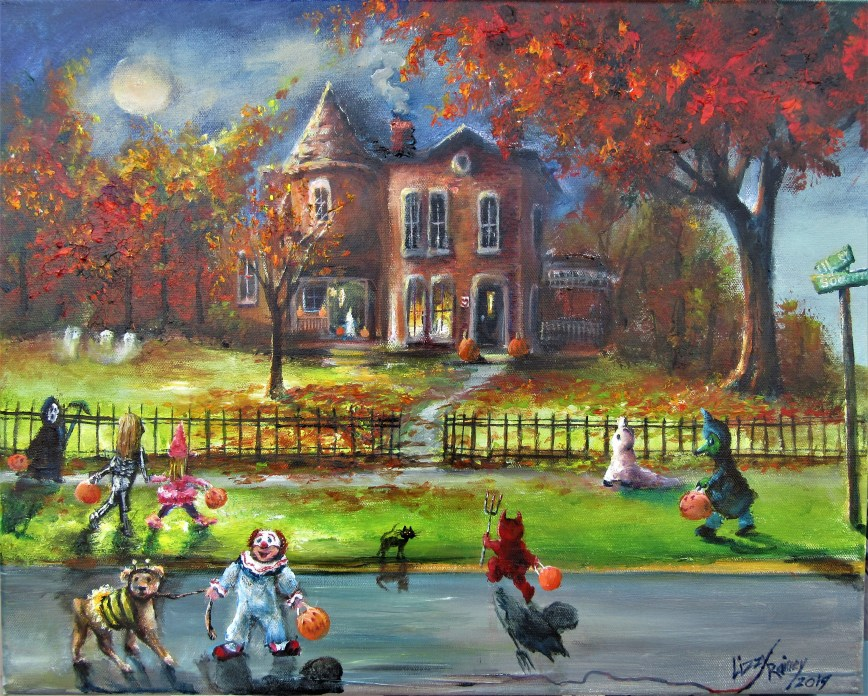 Past the Haunted MAnsion 16x20 2019