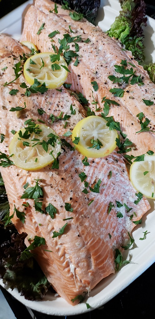 Super Easy Poached Salmon