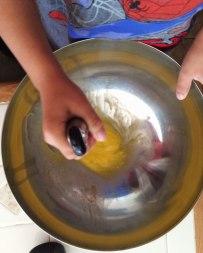 Pancake making skills paying off.