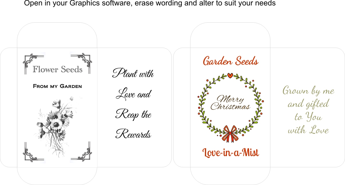 Seed Packet Templates – Aunty Lil's Place