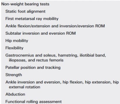Non weight bearing tests_Running Assessment