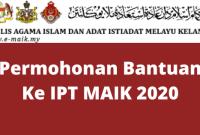 Permohonan Bantuan Ke IPT MAIK 2020
