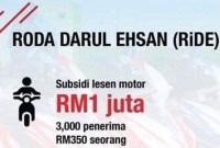 Permohonan Subsidi Lesen Motorsikal Selangor RM350