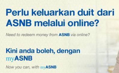 Permohonan Pengeluaran ASB Secara Online MyASNB Terkini