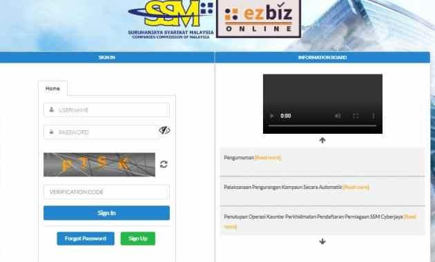 Online ezBiz SSM 2020
