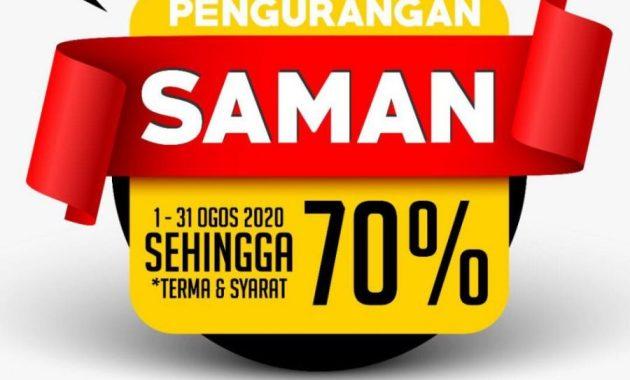 Diskaun 70% Saman JPJ/AES/SPAD