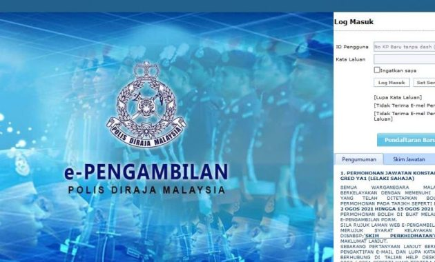 ePengambilan PDRM 2021 Online