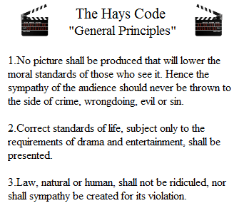 hays-code-general-principles