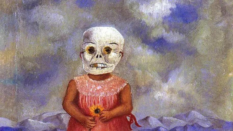 Frida Kahlo e l'autoritratto nascosto dietro la maschera della morte