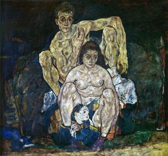 Egon_Schiele_-_Die_Familie_(1918)