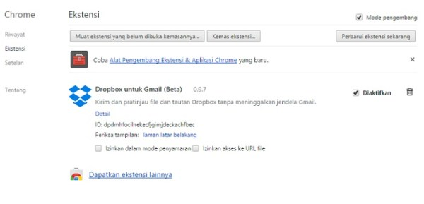 Google chrome akan memblokir Nonwebstore extension 1