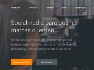 Diseño del Website corporativo y publicación SocialMediaSL