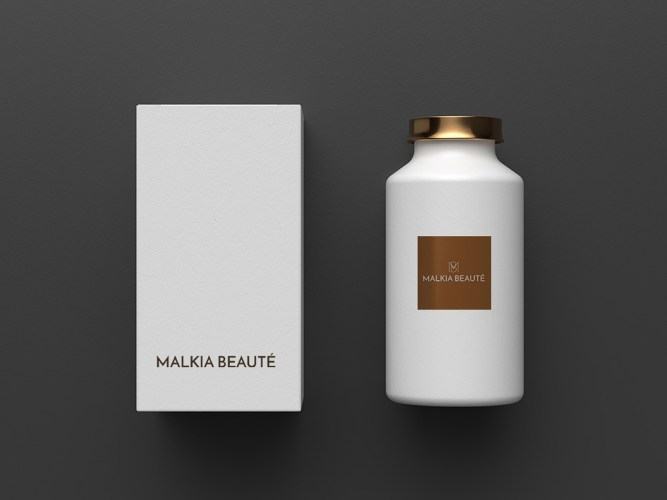malkiabeaute - logotype - design graphic