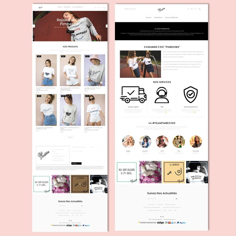 Site web club pimbeches - template